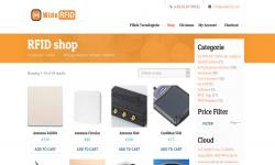 screen shot widerfid website
